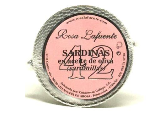 42 Petites sardines à l'huile d'olive - Rosa Lafuente - Conserves de poissons de Galice