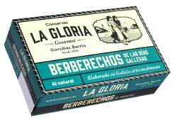 Coques au naturel -Conserves La Gloria - Costera - Asturies Espagne