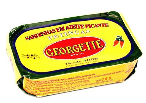 Petites sardines à l'huile d'olive épicée - Georgette - Conserves de sardines du Portugal