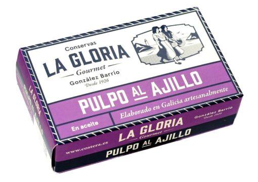 Poulpe à l'ail -Conserves La Gloria - Costera - Asturies Espagne